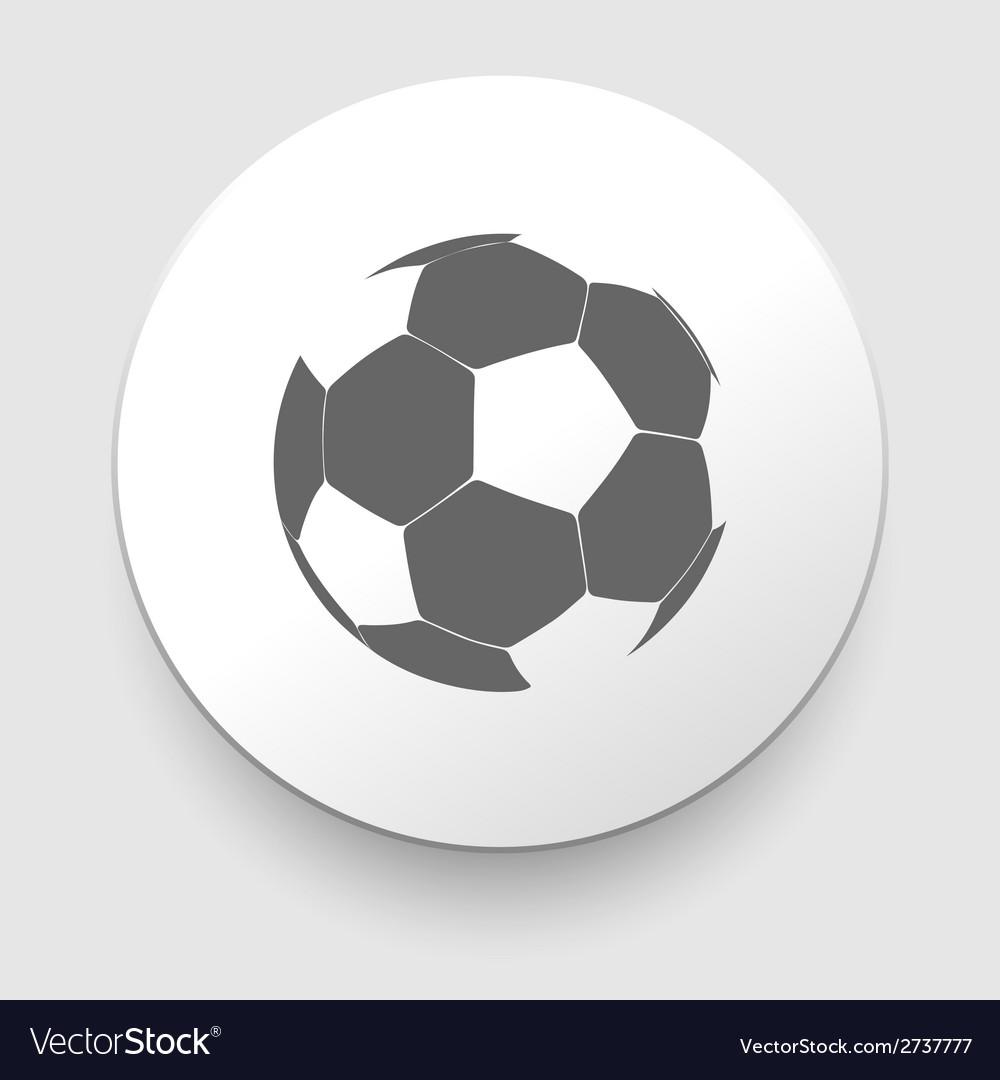 Soccer ball icon vector | Price: 1 Credit (USD $1)
