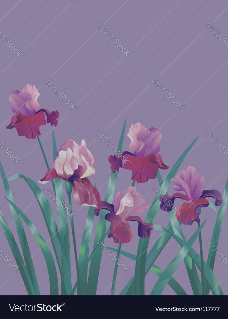 Subtle flower background vector | Price: 1 Credit (USD $1)