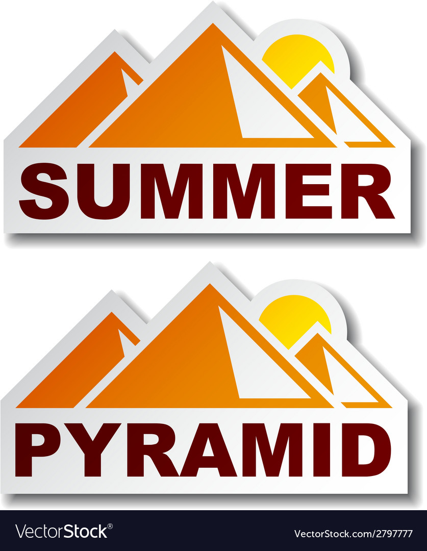 Summer egypt pyramid stickers vector | Price: 1 Credit (USD $1)