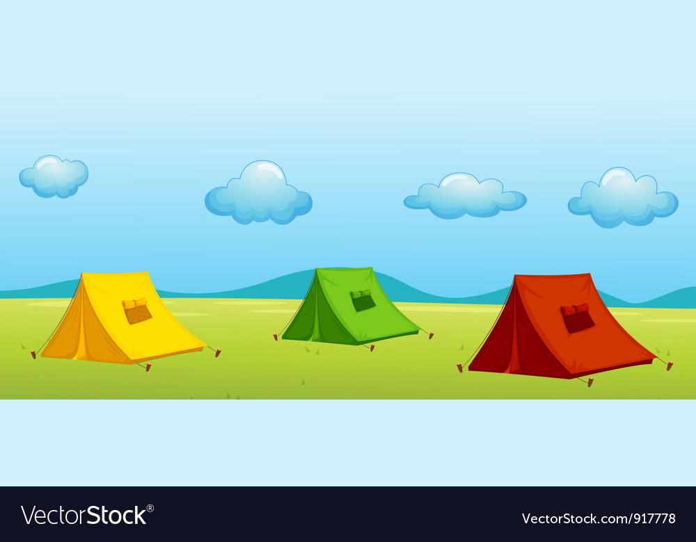 3 tents vector | Price: 3 Credit (USD $3)