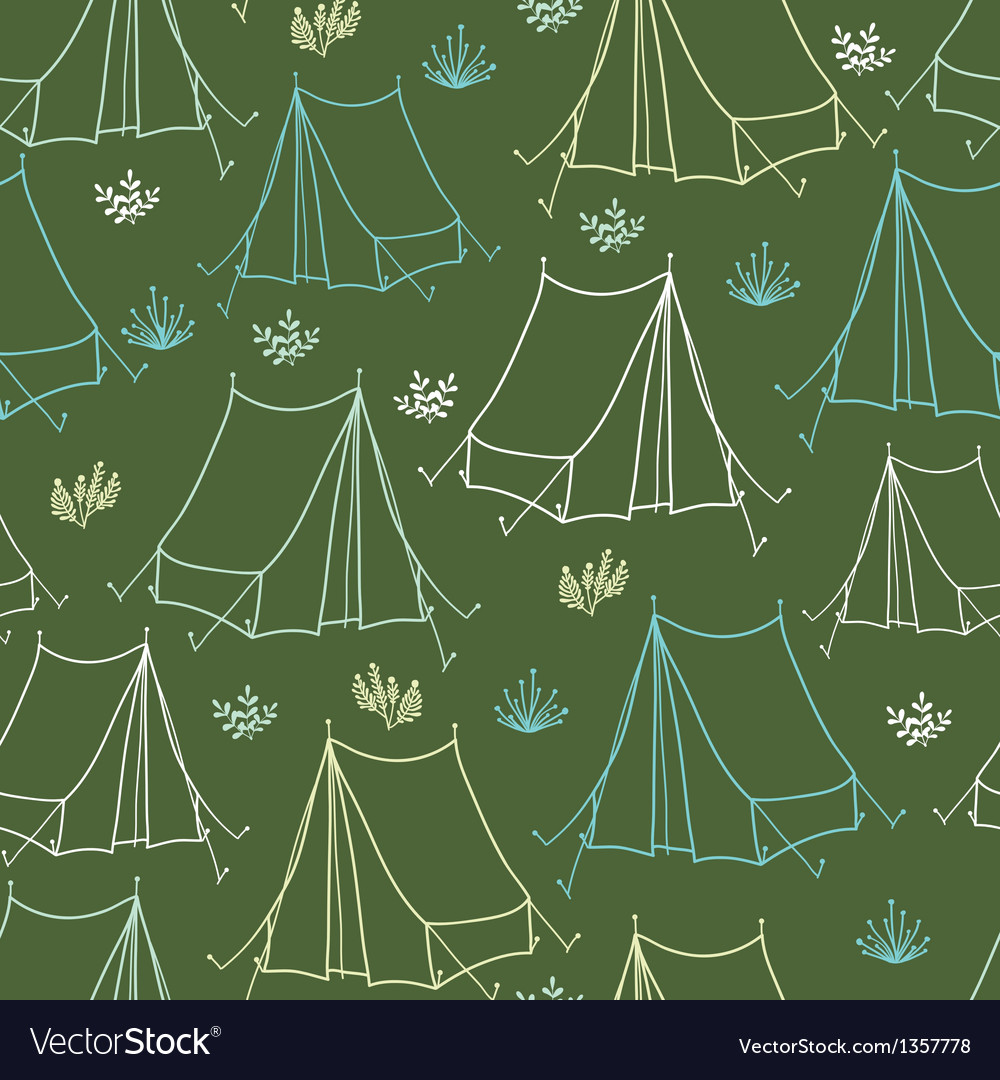 Camping seamless pattern background vector | Price: 1 Credit (USD $1)