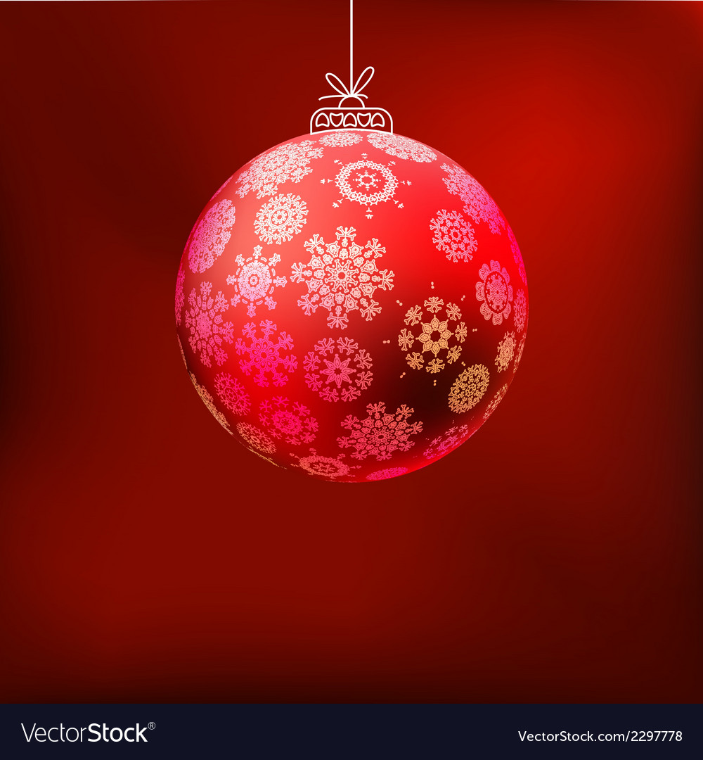 Christmas background with red ball eps 8 vector | Price: 1 Credit (USD $1)