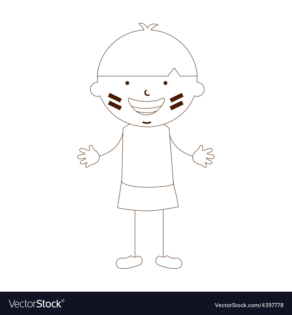 Cute children vector | Price: 1 Credit (USD $1)