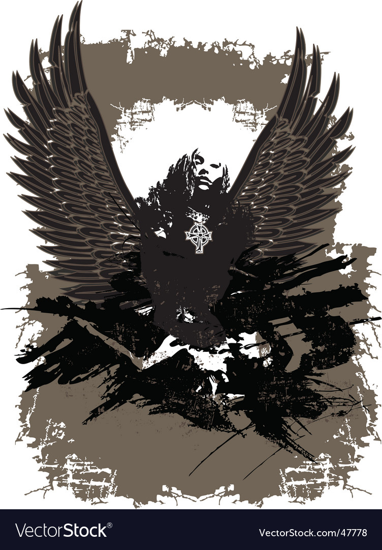 Fallen angel vector | Price: 1 Credit (USD $1)