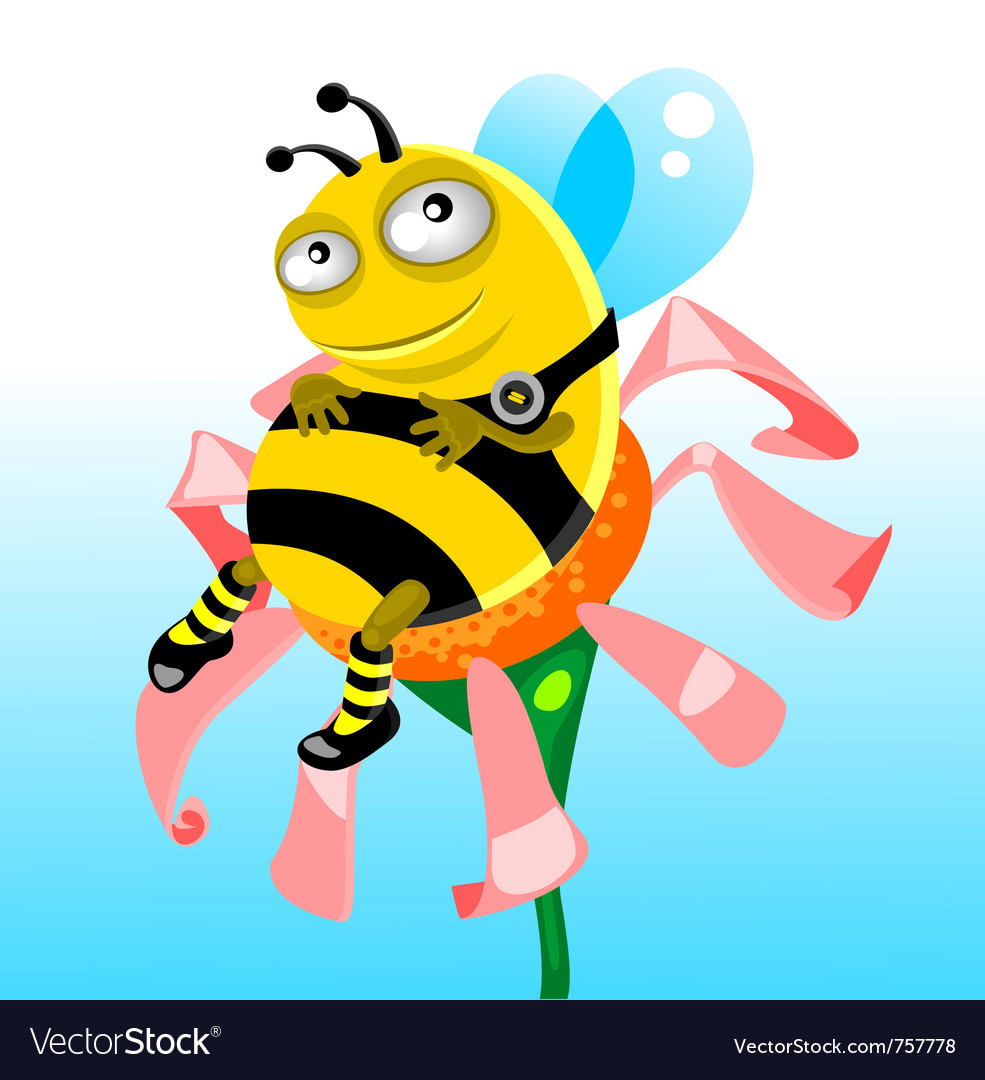 Happy thick bee vector | Price: 3 Credit (USD $3)