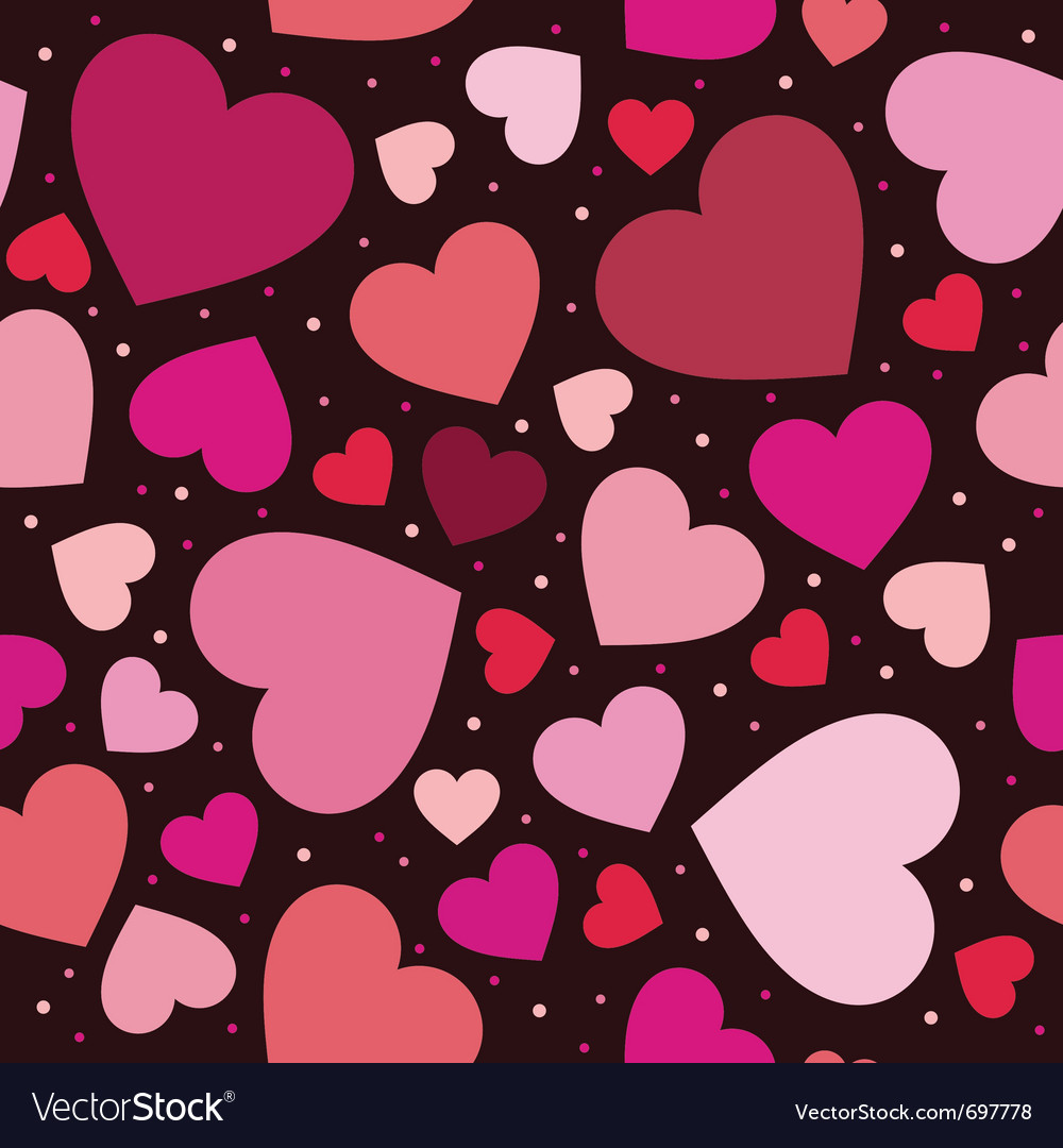 Hearts pattern background vector | Price: 1 Credit (USD $1)