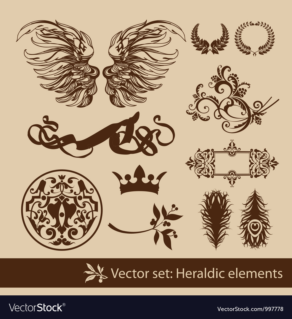 Heraldy elements vector | Price: 1 Credit (USD $1)