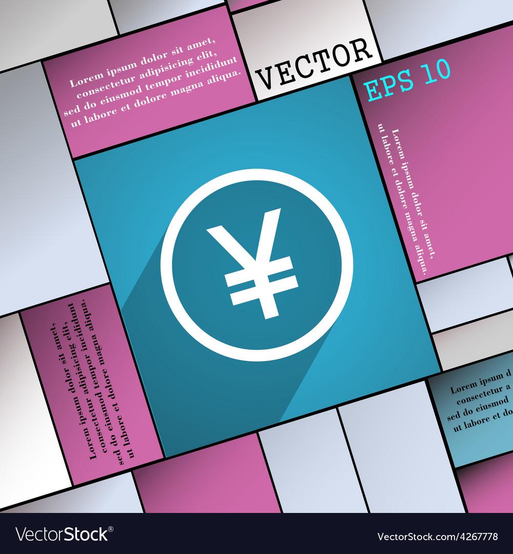 Japanese yuan icon symbol flat modern web design vector | Price: 1 Credit (USD $1)