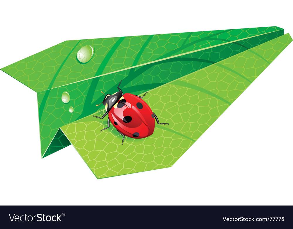 Leaf airplane vector | Price: 3 Credit (USD $3)