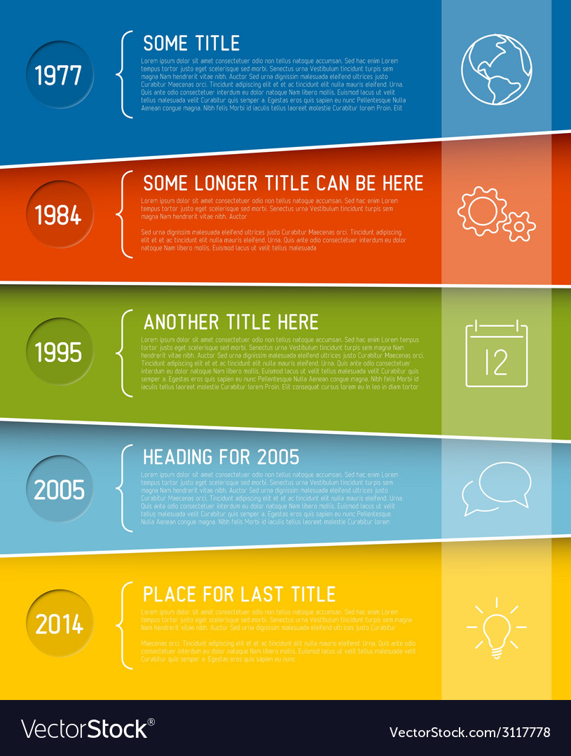Modern infographic timeline report template vector | Price: 1 Credit (USD $1)