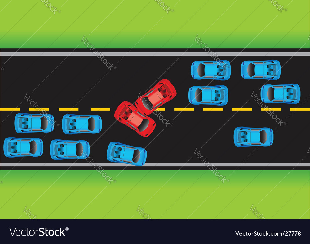 Road situation vector | Price: 1 Credit (USD $1)