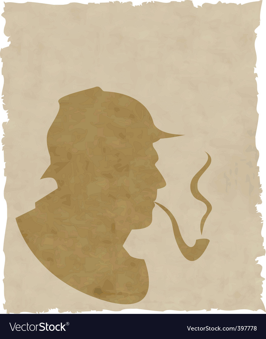 silhouette pipe smoker vector | Price: 1 Credit (USD $1)