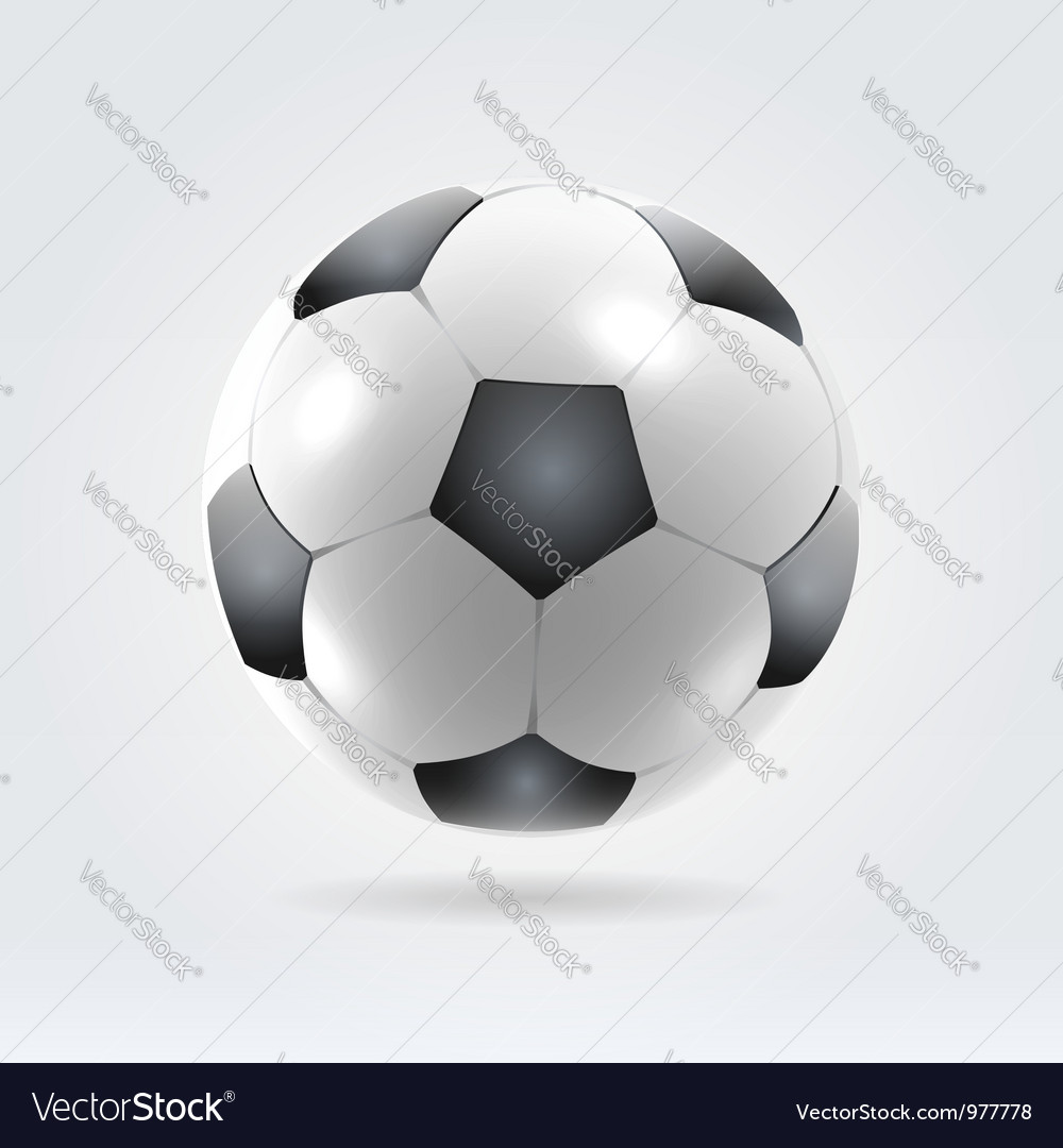 Soccer ball vector | Price:  Credit (USD $)