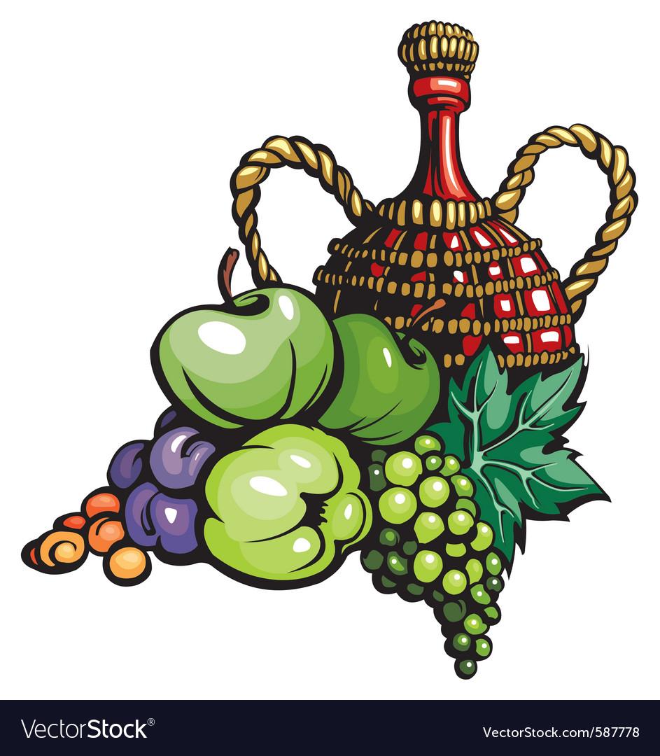 Still life vine vector   Price: 1 Credit (USD $1)