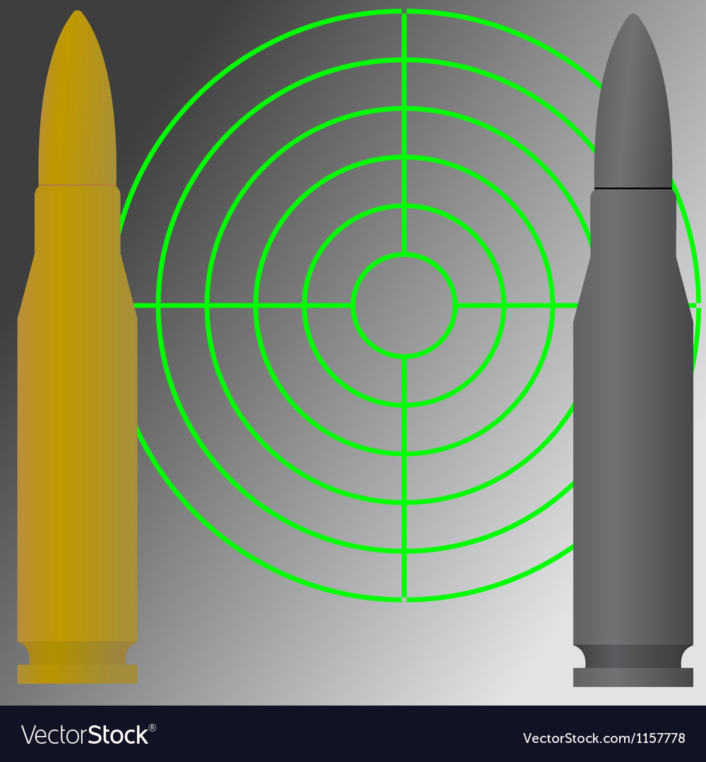 Target and cartridges vector | Price: 1 Credit (USD $1)