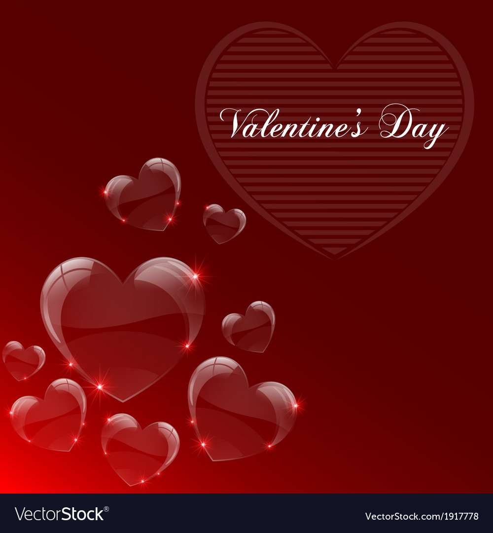Valentines day celebrate card vector | Price: 1 Credit (USD $1)