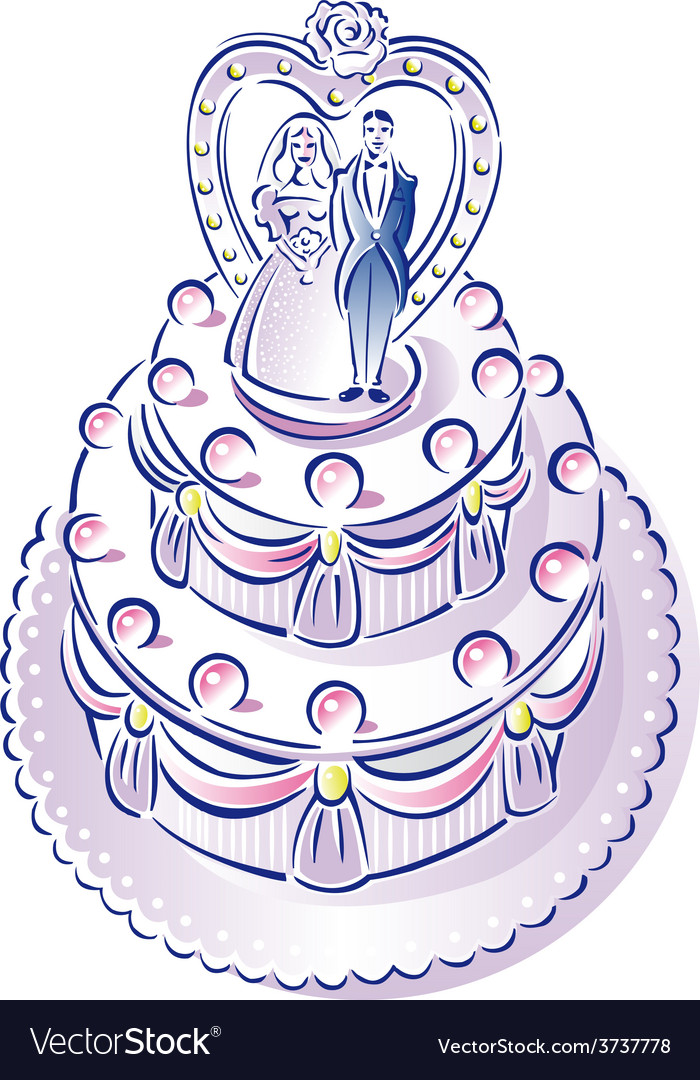 Weddingcake vector | Price: 1 Credit (USD $1)
