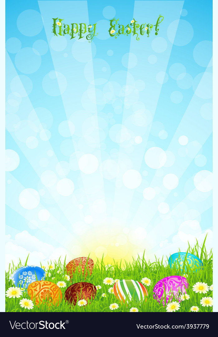 Beautiful easter background vector | Price: 3 Credit (USD $3)
