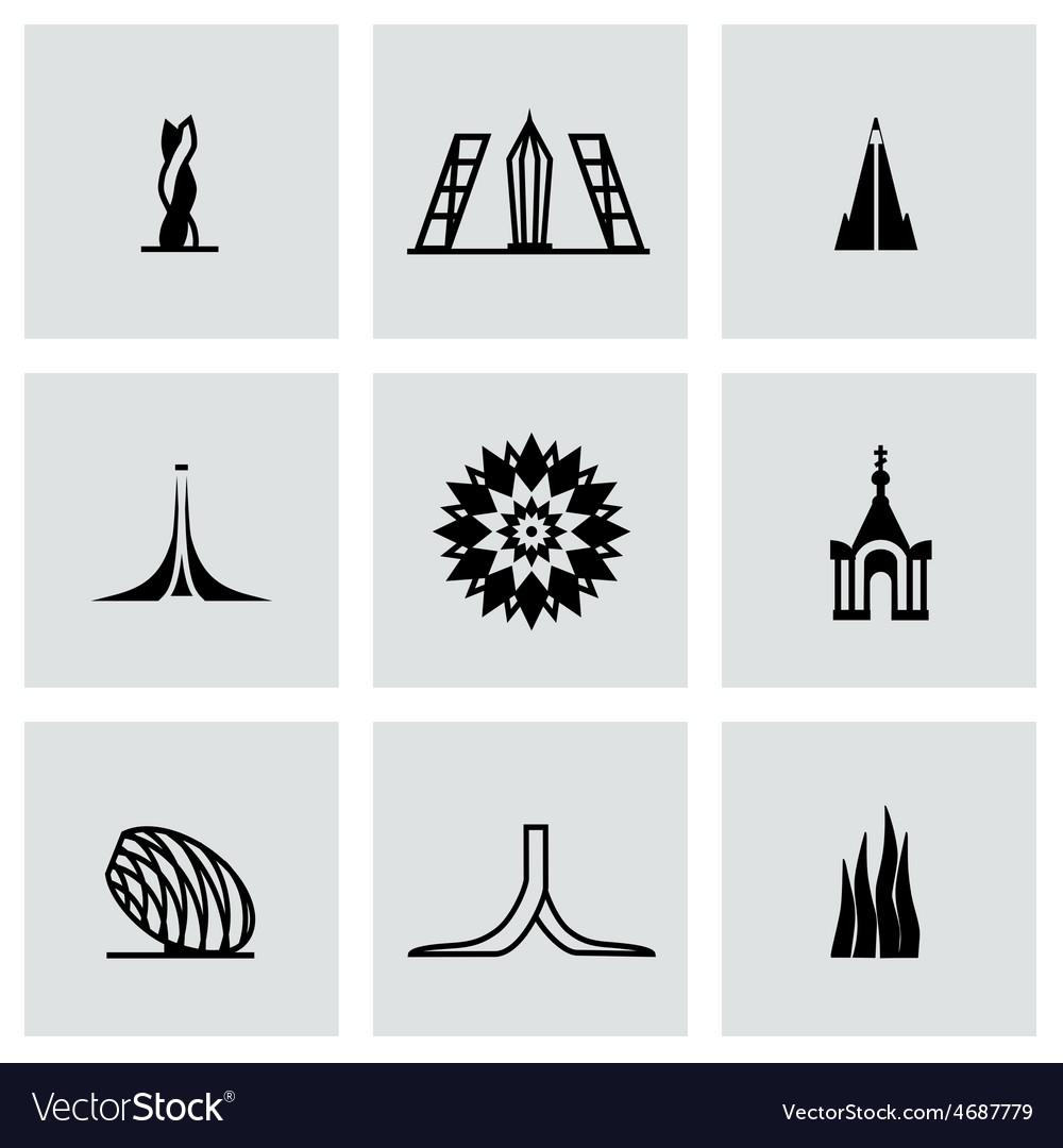 Buildings icon set vector | Price: 1 Credit (USD $1)