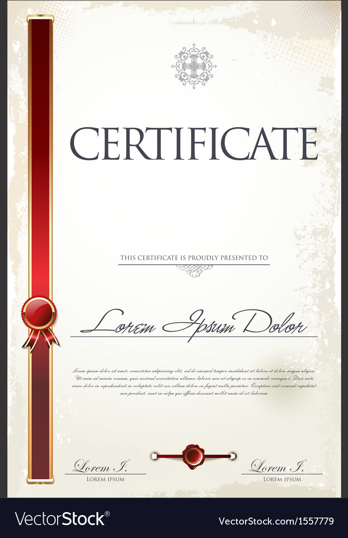 Certificate template vector   Price: 1 Credit (USD $1)