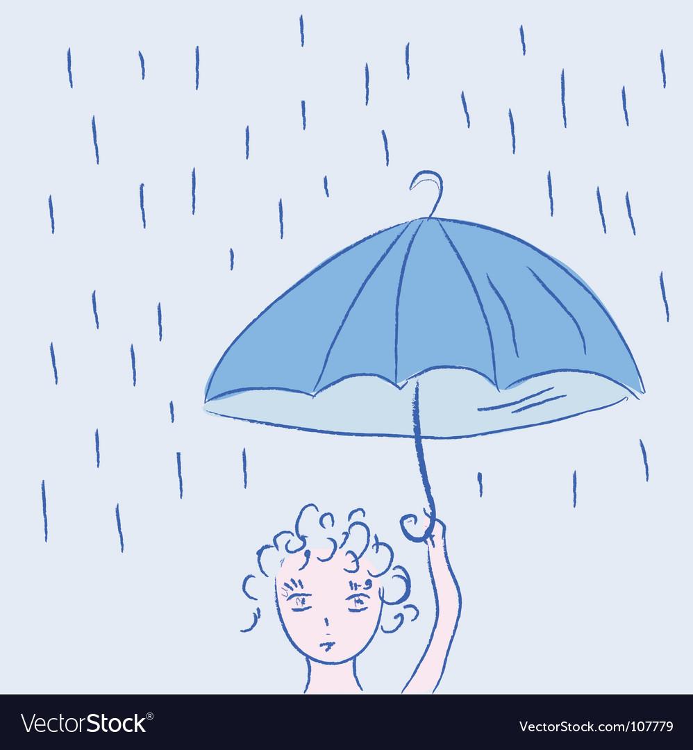Child with umbrella vector   Price: 1 Credit (USD $1)