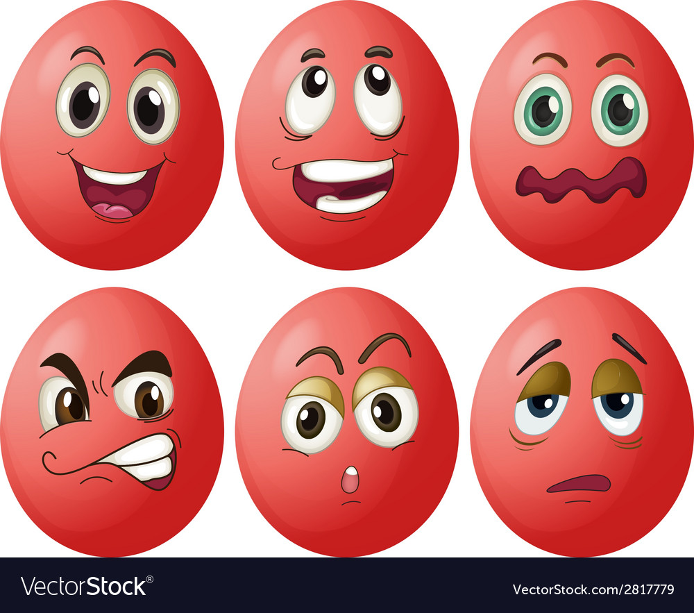 Egg expressions vector | Price: 1 Credit (USD $1)