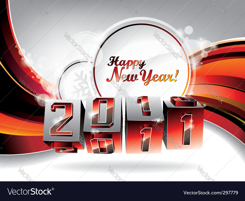 Happy new year design vector | Price: 1 Credit (USD $1)