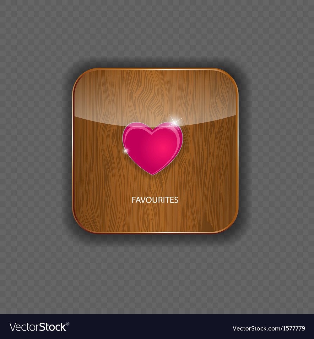 Heart wood application icons vector | Price: 1 Credit (USD $1)