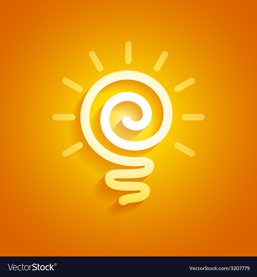 Light bulb vector   Price: 1 Credit (USD $1)