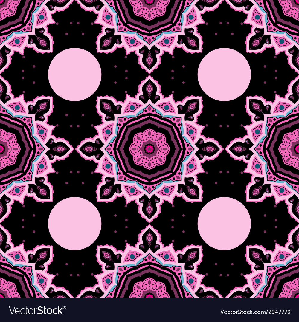 Mandala seamless background pattern vector | Price: 1 Credit (USD $1)