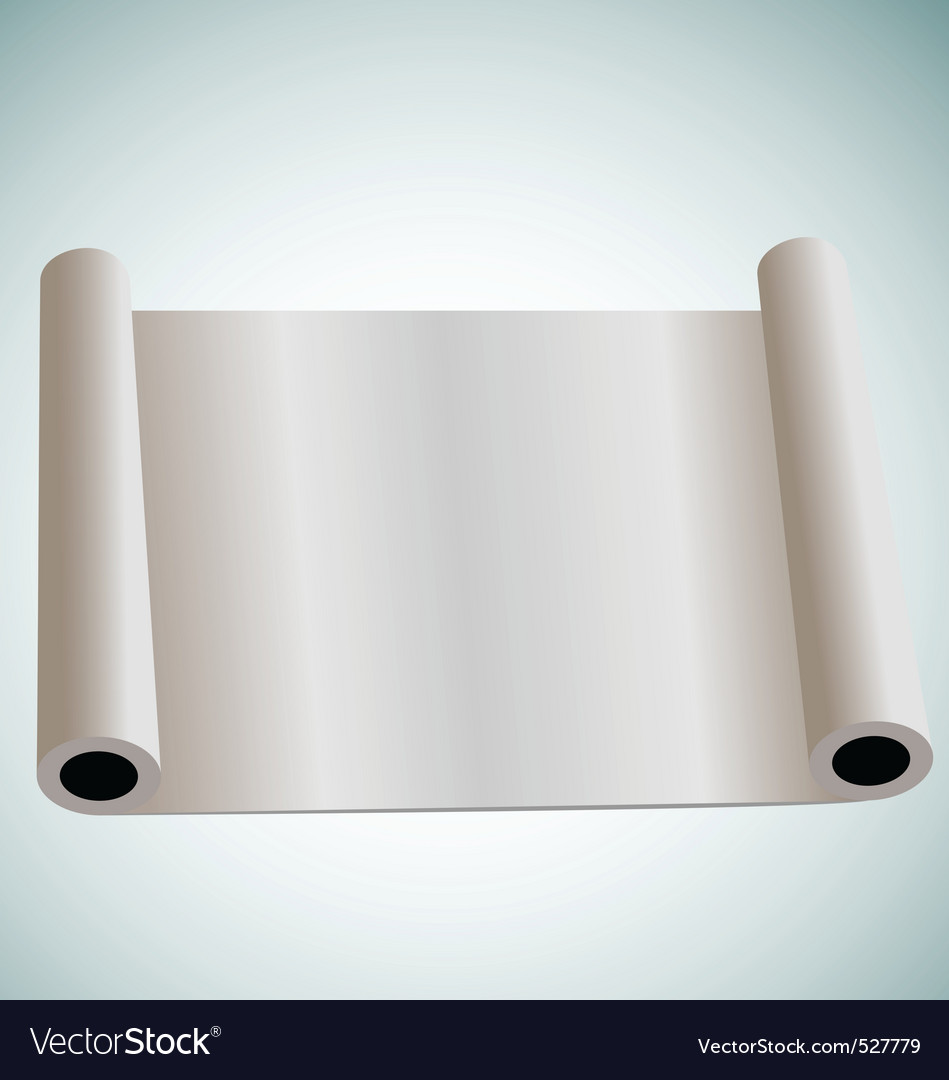 Illustration of blank paper roll for design vector | Price: 1 Credit (USD $1)