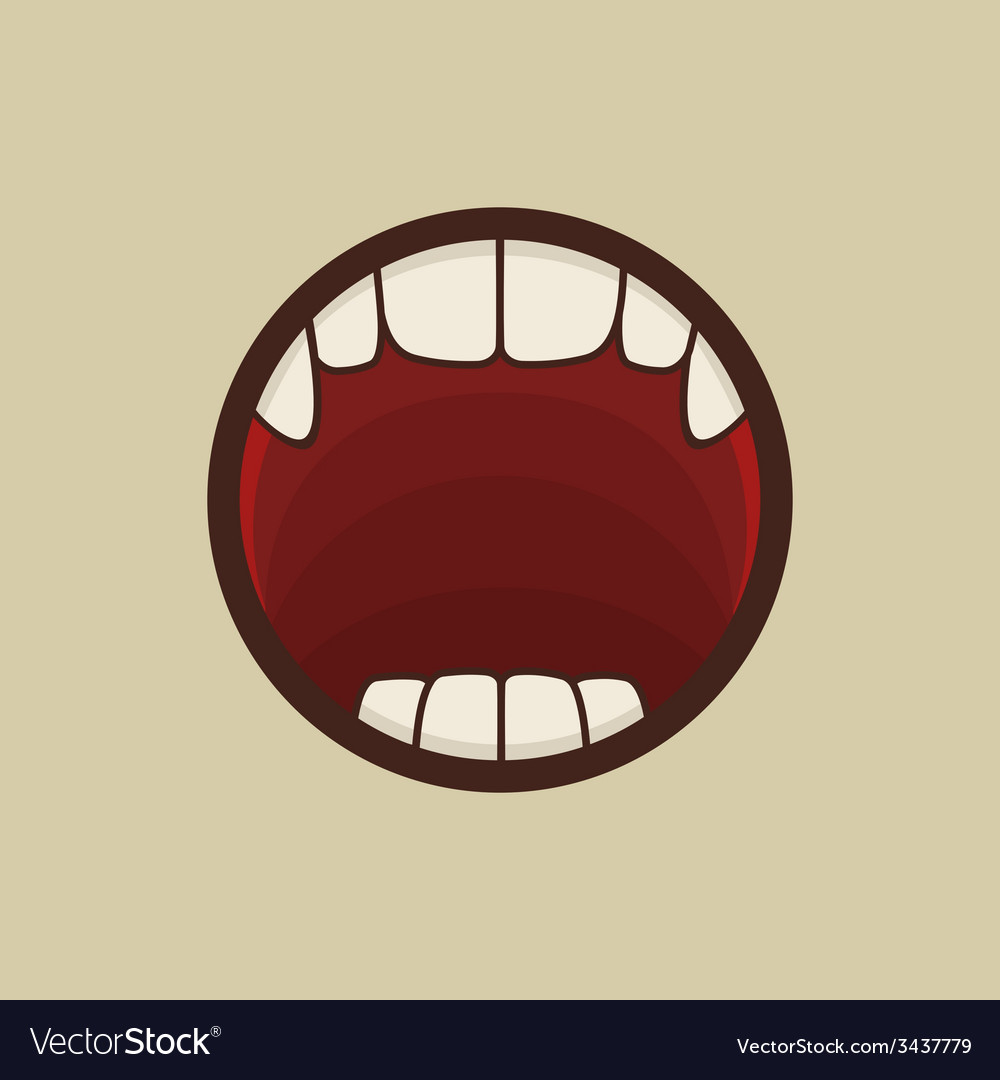 Open vampire mouth with teeth vector   Price: 1 Credit (USD $1)