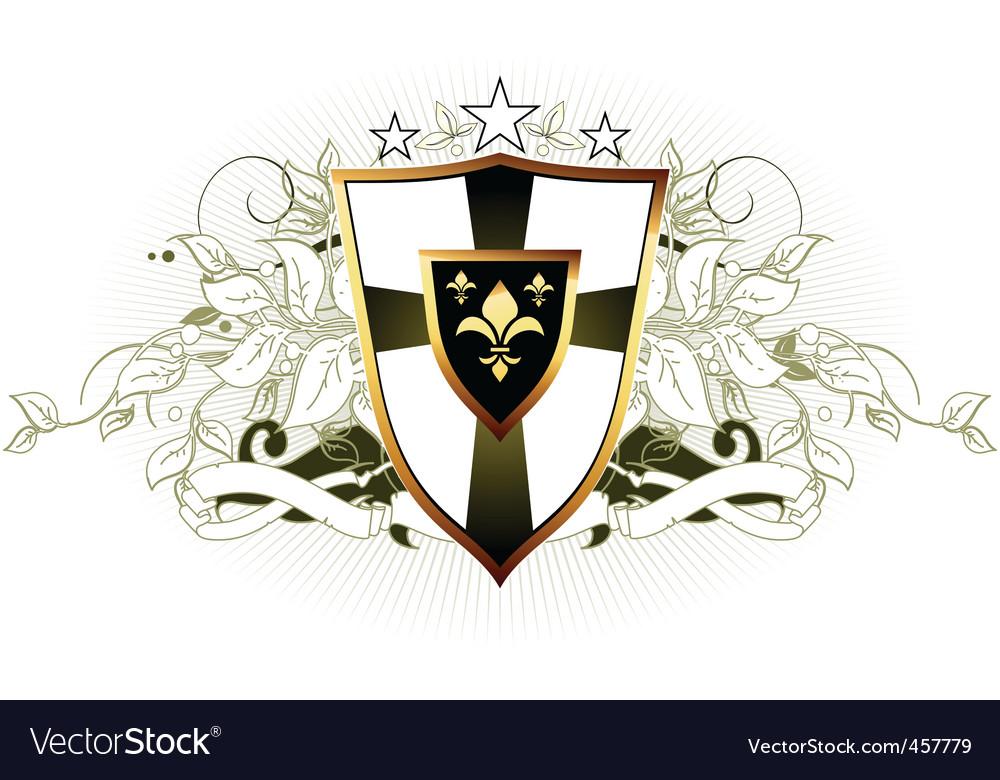 Ornamental shield vector | Price: 1 Credit (USD $1)