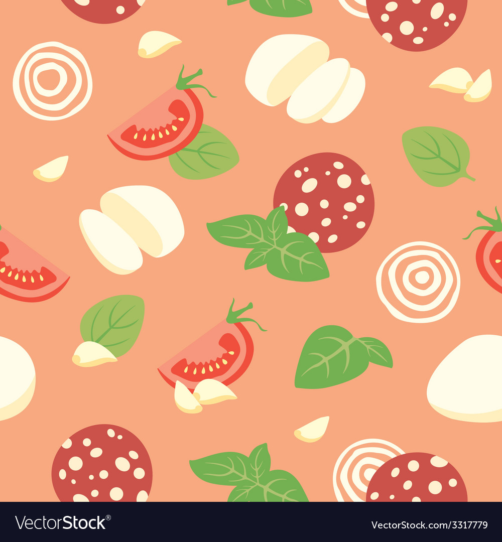Pizza pepperoni ingredients vector | Price: 1 Credit (USD $1)