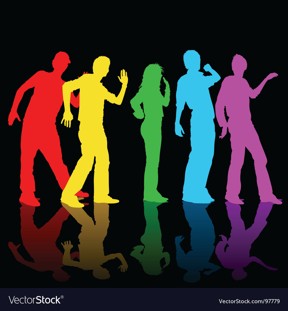 Rainbow dance vector | Price: 1 Credit (USD $1)