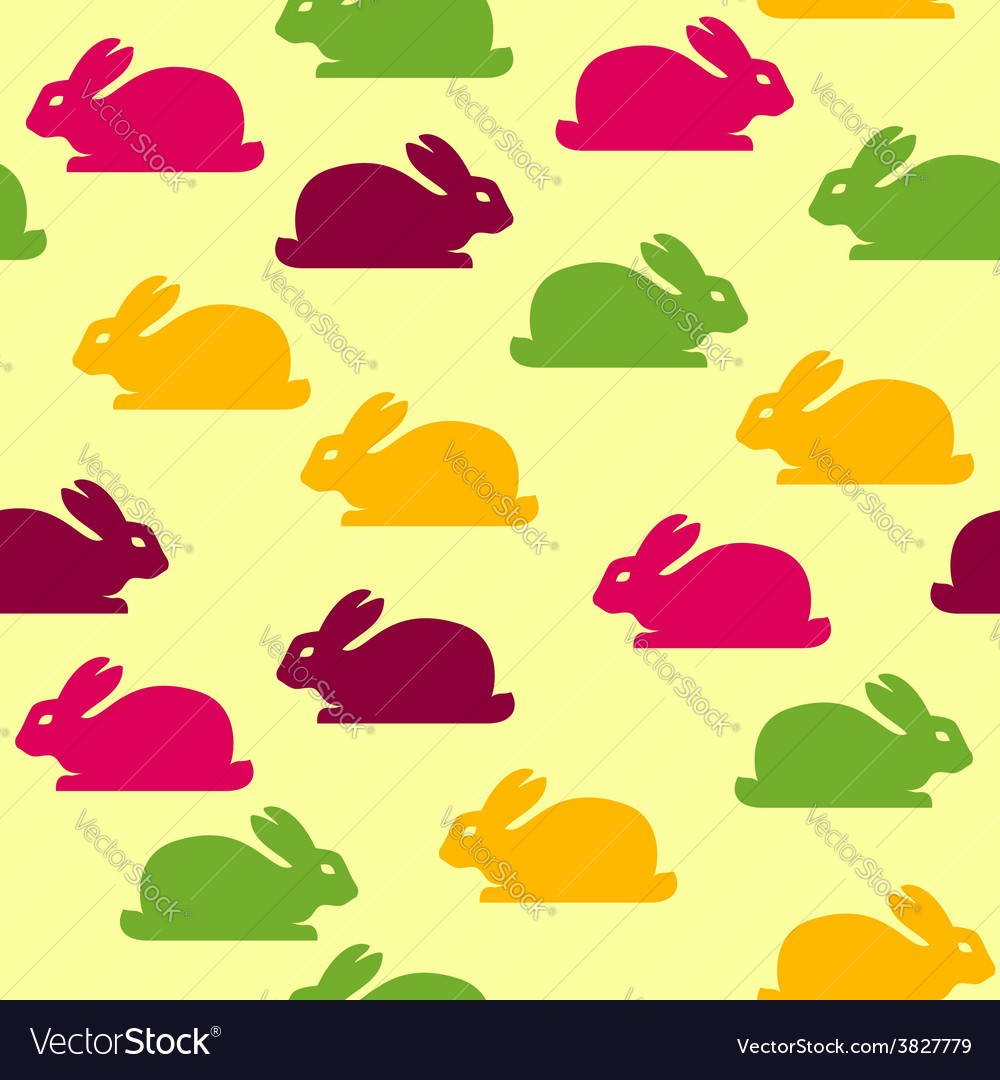 Seamless background with funny bunnies vector | Price: 1 Credit (USD $1)