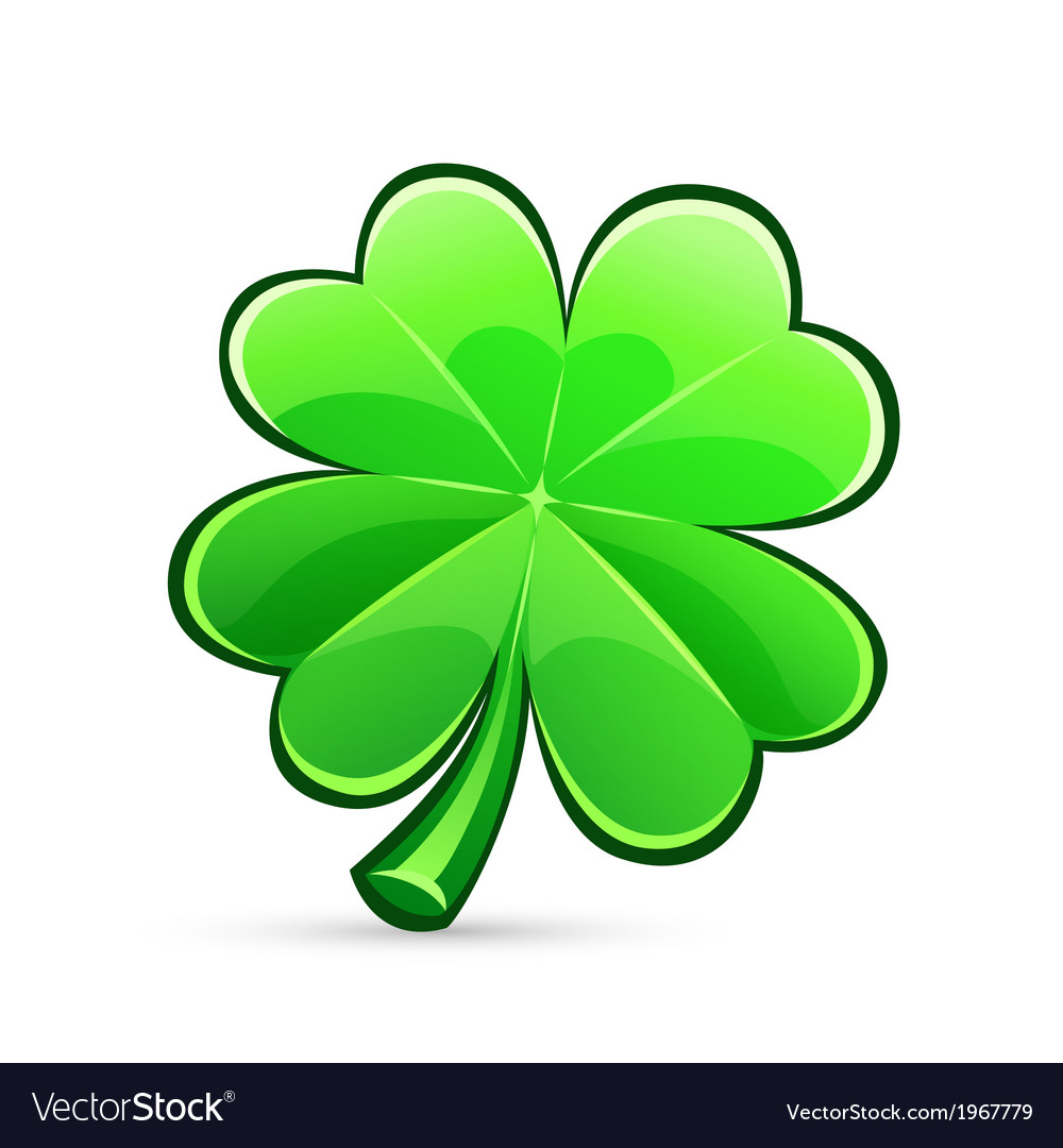 St patricks day four leaf clover vector | Price: 1 Credit (USD $1)