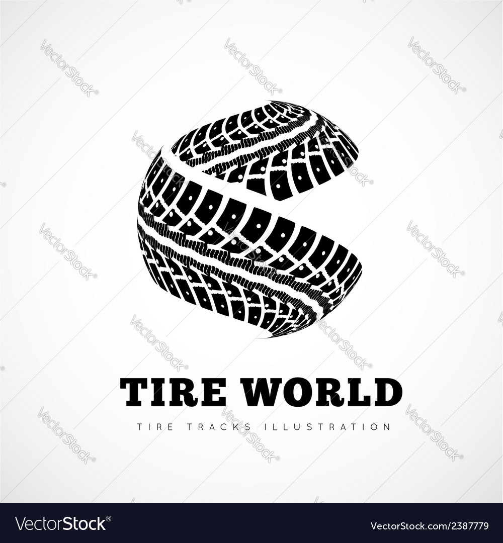 Tire track brand vector | Price: 1 Credit (USD $1)