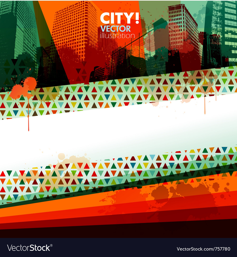 Abstract city design banner vector | Price: 1 Credit (USD $1)