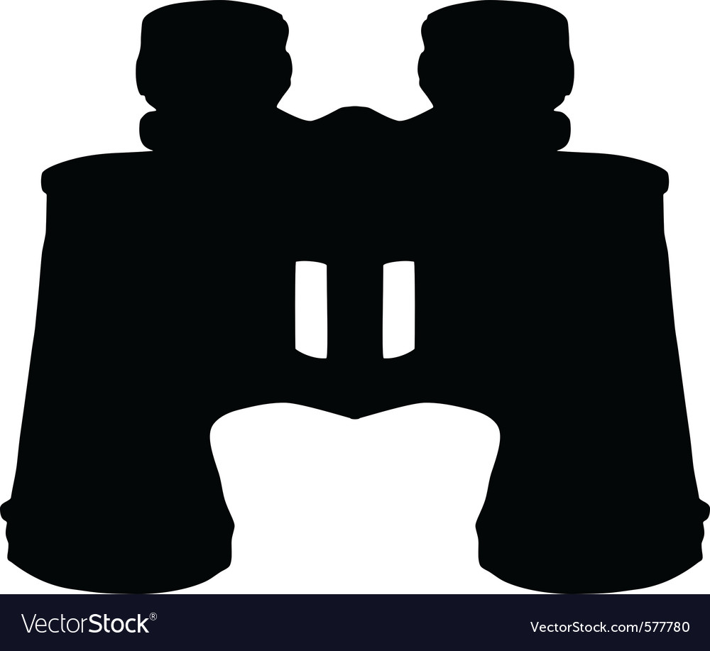 Binoculars silhouette vector | Price: 1 Credit (USD $1)