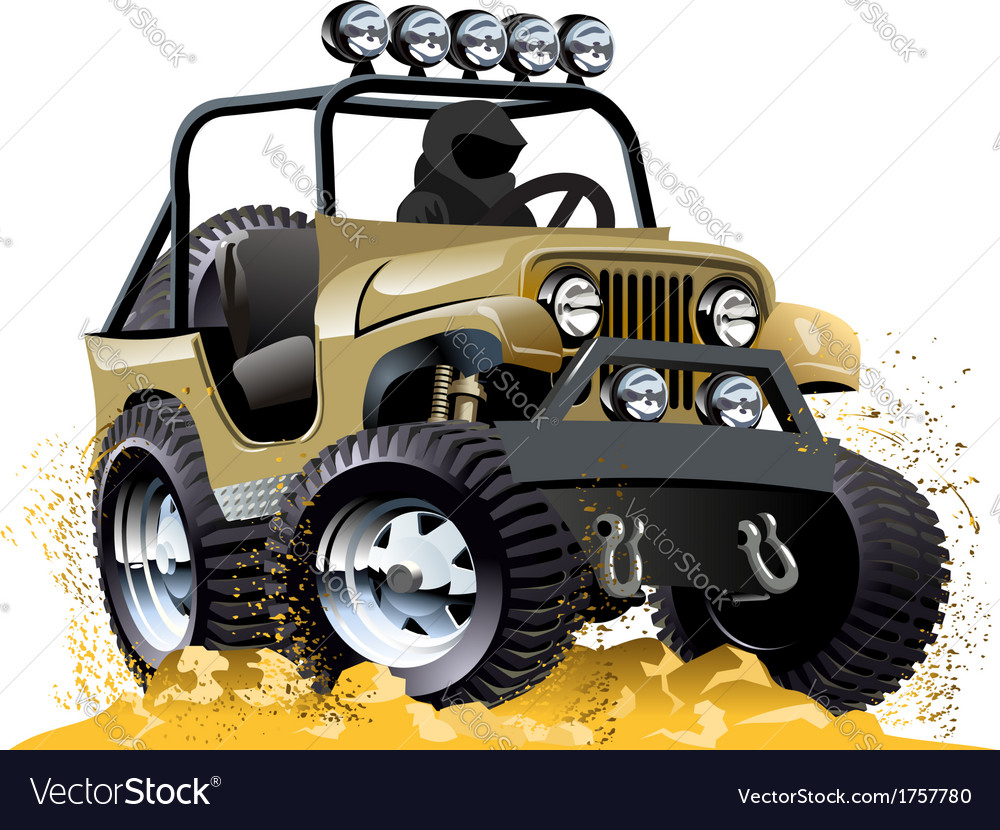 Cartoon jeep vector | Price: 5 Credit (USD $5)