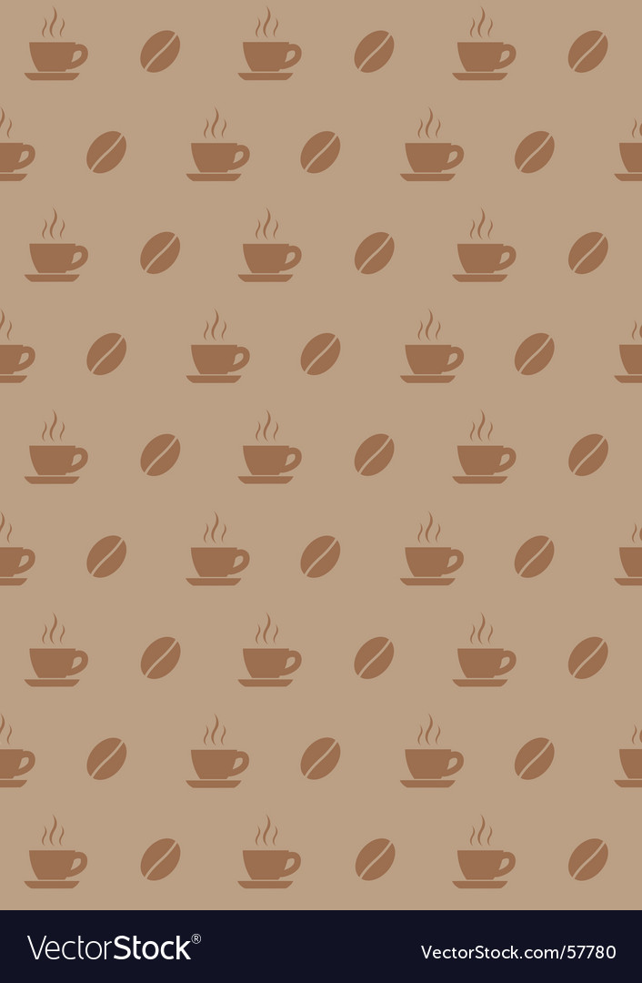 Coffee wallpaper vector | Price: 1 Credit (USD $1)