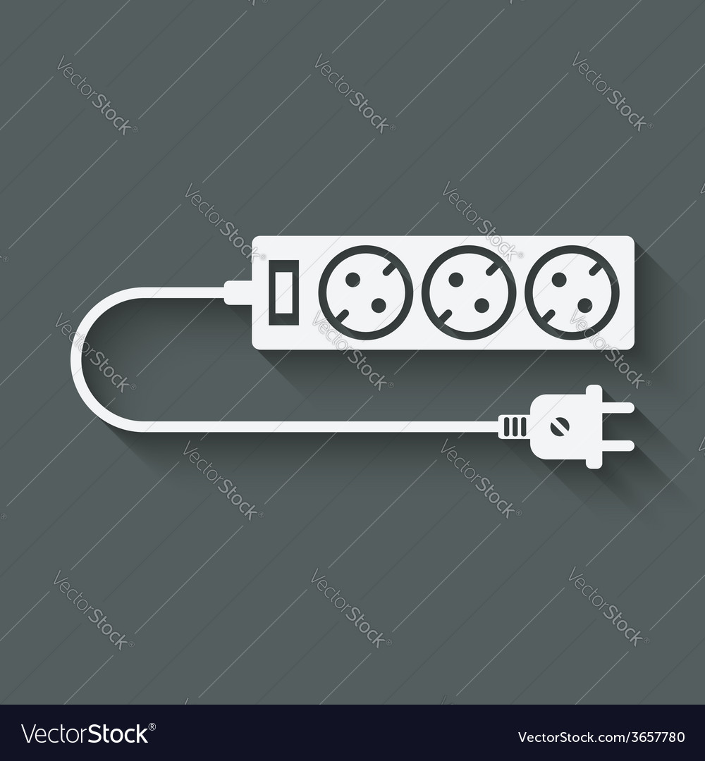 Extension cord symbol vector | Price: 1 Credit (USD $1)