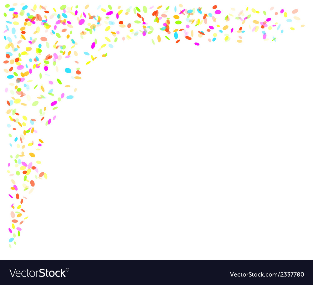 Falling confetti vector | Price: 1 Credit (USD $1)