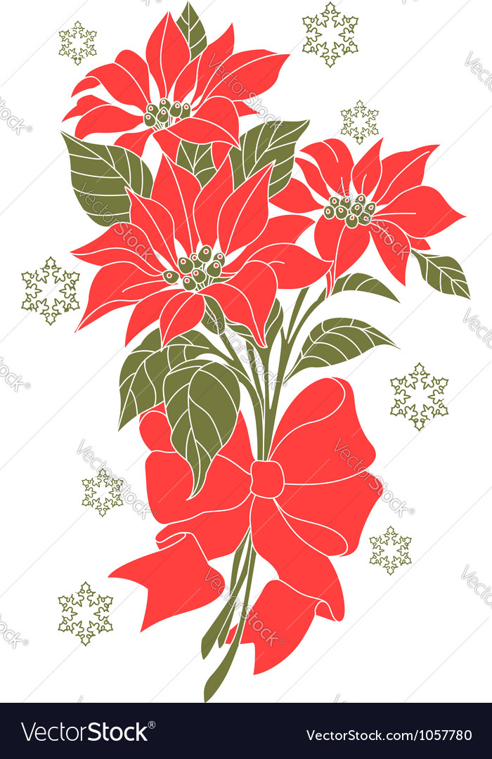 Flower of christmas night vector | Price: 1 Credit (USD $1)