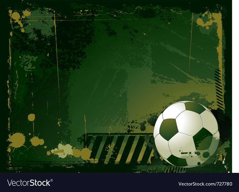 Grunge soccer background vector | Price: 1 Credit (USD $1)