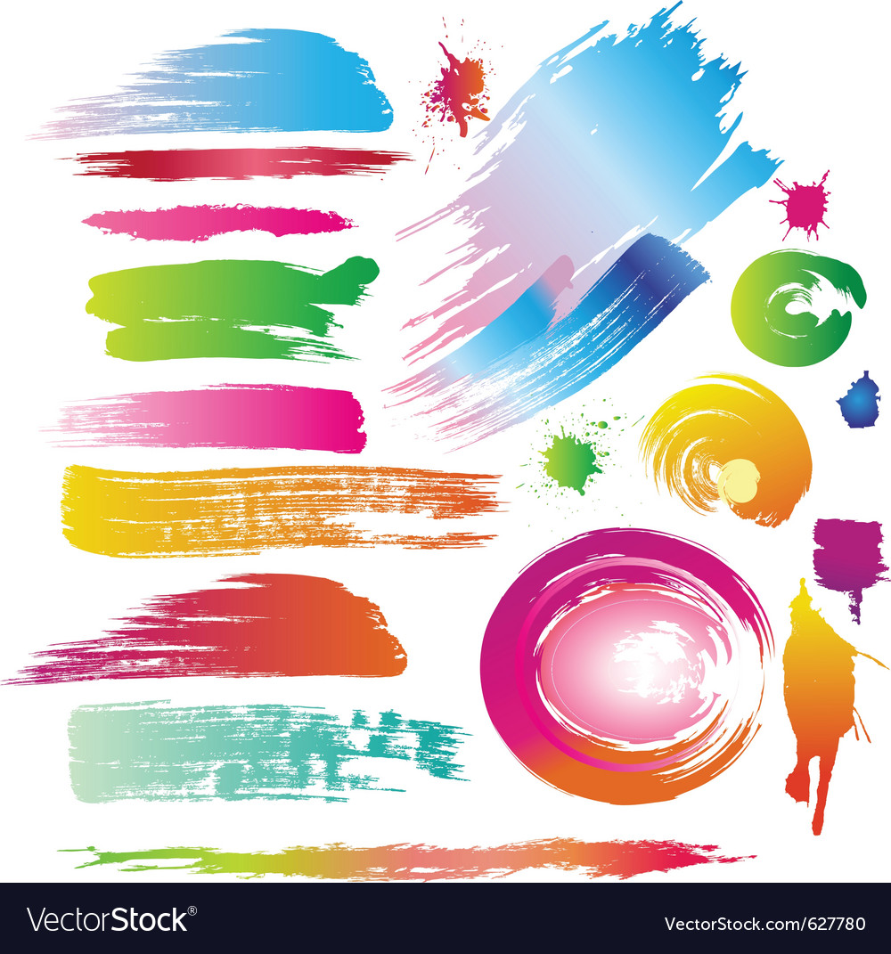 Ink and paint splatters vector | Price: 1 Credit (USD $1)