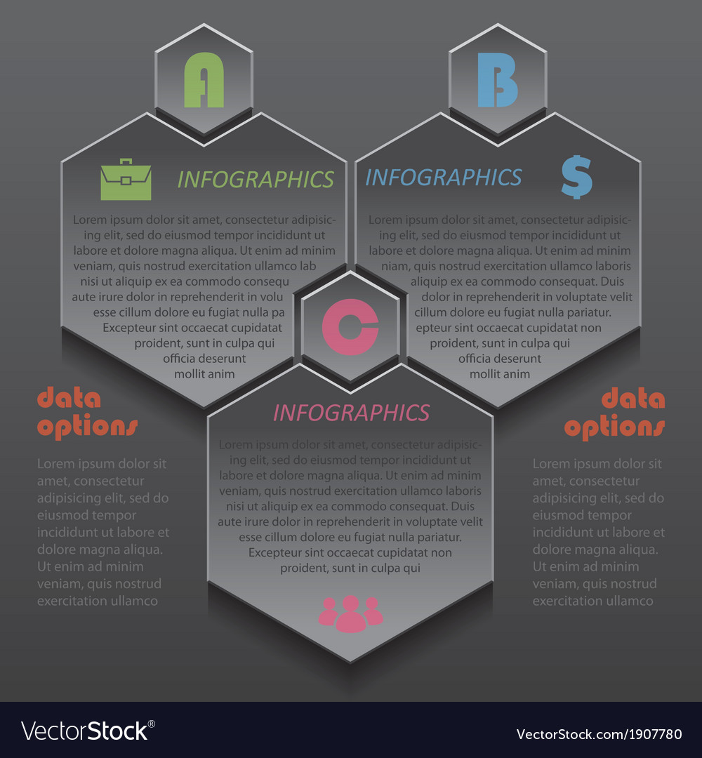 Modern template infographics design for business vector | Price: 1 Credit (USD $1)