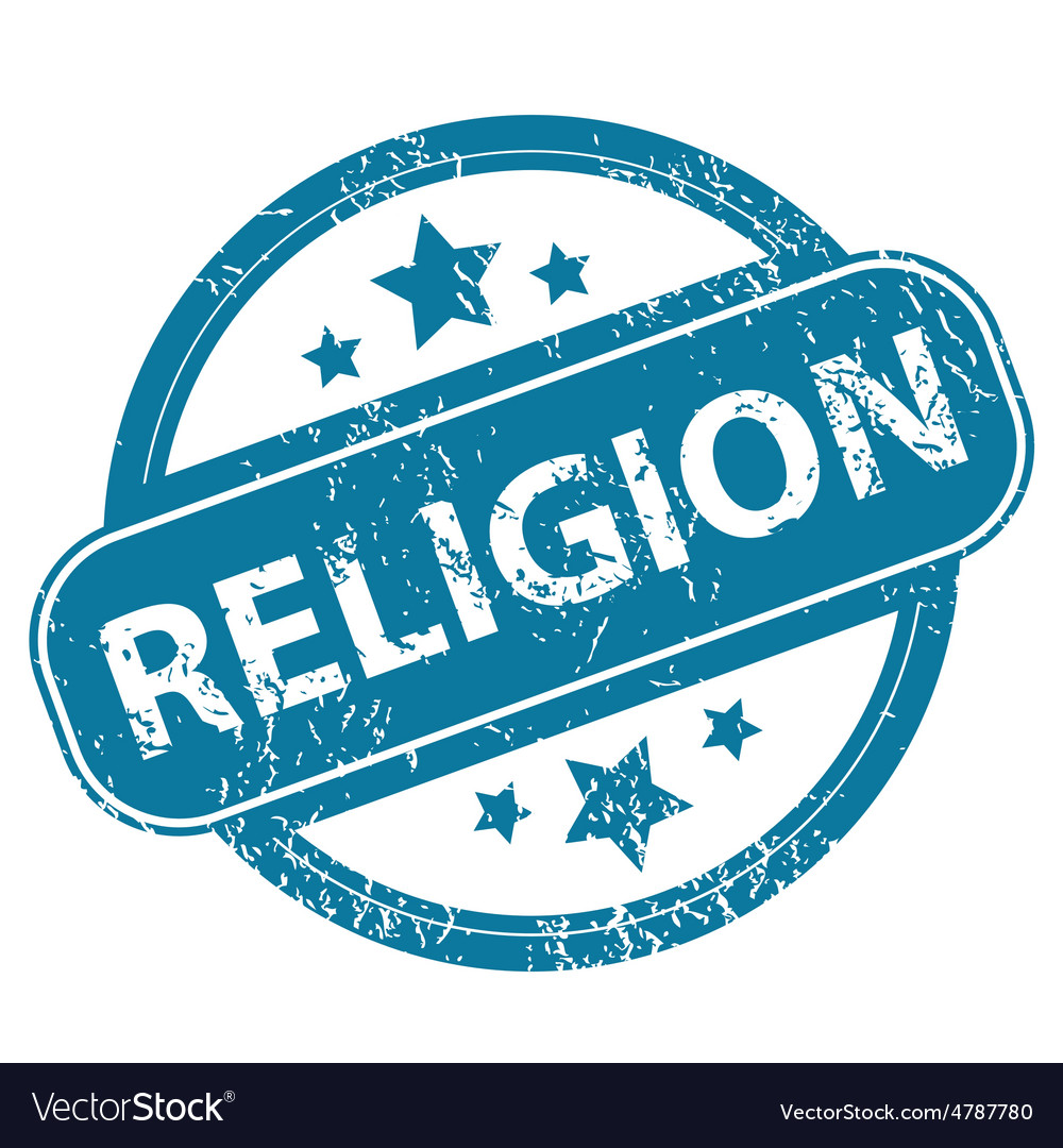 Religion round stamp vector | Price: 1 Credit (USD $1)
