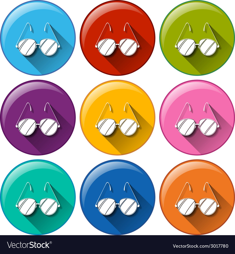Round icons with eyeglasses vector   Price: 1 Credit (USD $1)
